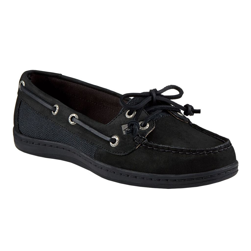SPERRY SPERRY FIREFISH BLACK LEATHER BOAT SHOE (WOMEN'S) *CLEARANCE*
