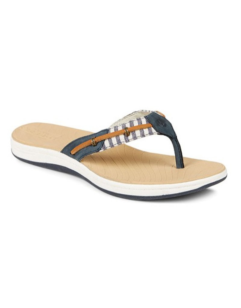 SPERRY SPERRY SEABROOK SURF NAVY STRIPES THONG FLIP FLOP (WOMEN'S) *CLEARANCE*