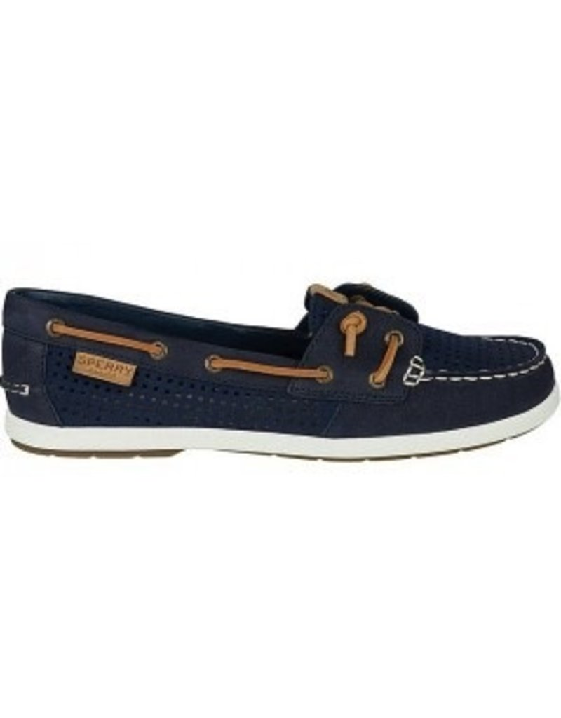 SPERRY SPERRY COIL IVY NAVY PERFORATED LEATHER BOAT SHOE (WOMEN'S) *CLEARANCE*