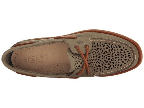 SPERRY SPERRY AUTHENTIC ORIGINAL VILLA PERFORATED OLIVE (WOMEN'S) *CLEARANCE*