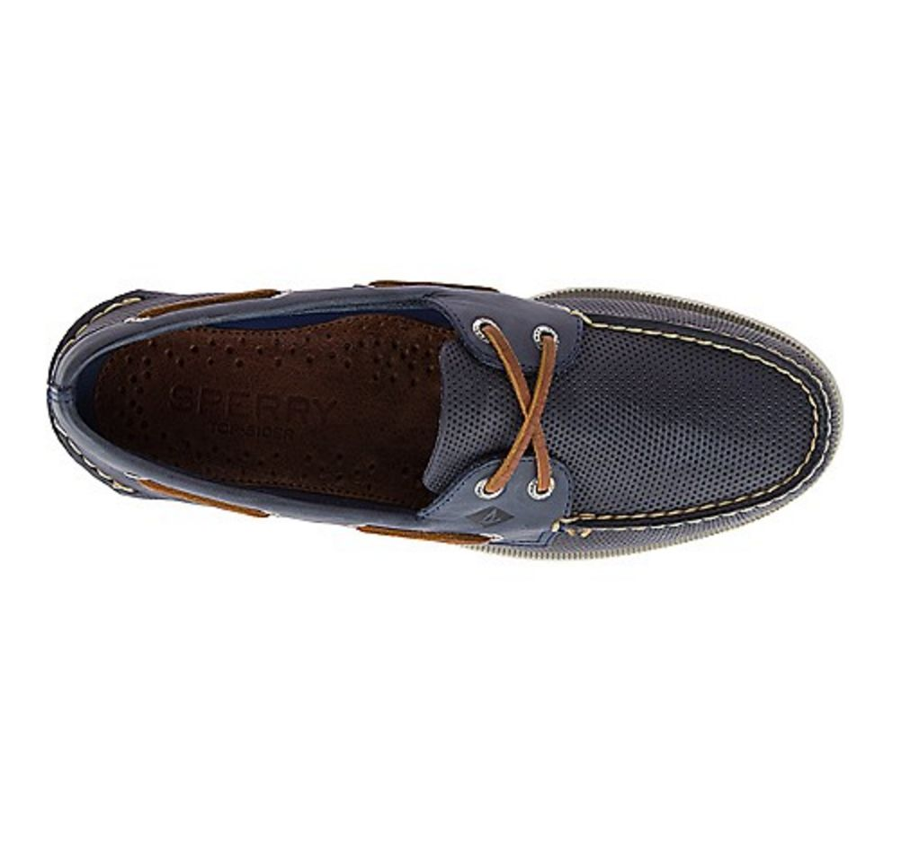 SPERRY SPERRY AUTHENTIC ORIGINAL PERFORATED NAVY BOAT SHOE (MEN'S) *CLEARANCE*