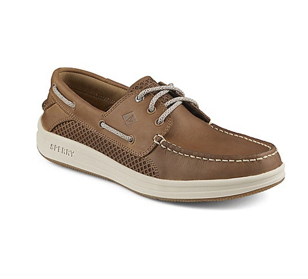 SPERRY SPERRY GAMEFISH 3 EYE DARK TAN BOAT SHOE (MEN'S) *CLEARANCE*