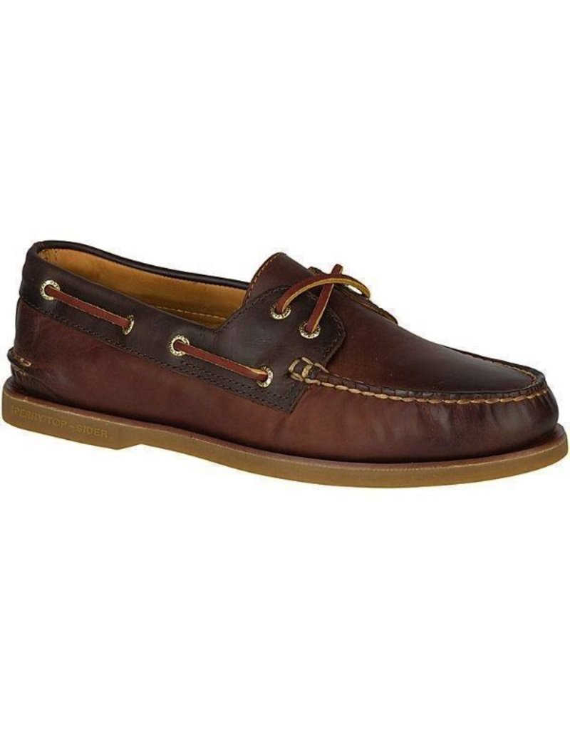 SPERRY SPERRY GOLD CUP AUTHENTIC ORIGINAL CATSKILL TAN/BROWN BOAT SHOE (MEN'S) *CLEARANCE*