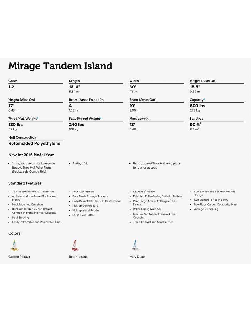 HOBIE® HOBIE MIRAGE ADVENTURE ISLAND TANDEM 18' KAYAK 2017