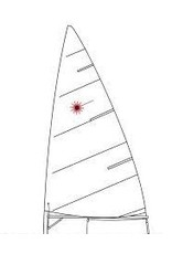 LASER PERFORMANCE LASER STANDARD MK1 FOLDED NORTH SAIL LP94107 (BATTENS NOT INCLUDED)