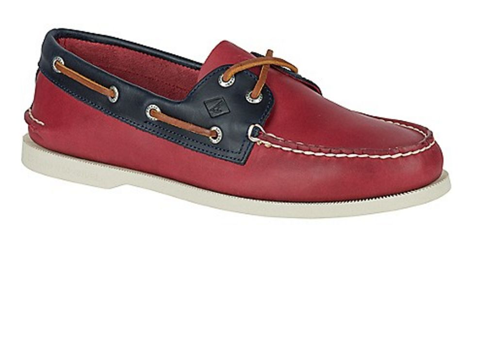 SPERRY SPERRY AUTHENTIC ORIGINAL SARAPE RED/NAVY BOAT SHOE (MEN'S)