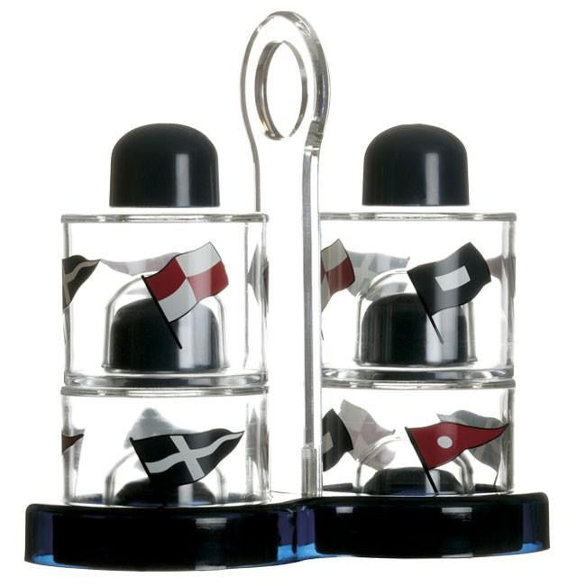 MARINE BUSINESS MARINE BUSINESS REGATTA CRUET & SALT-PEPPER SET (ACRYLLIC) 5PC