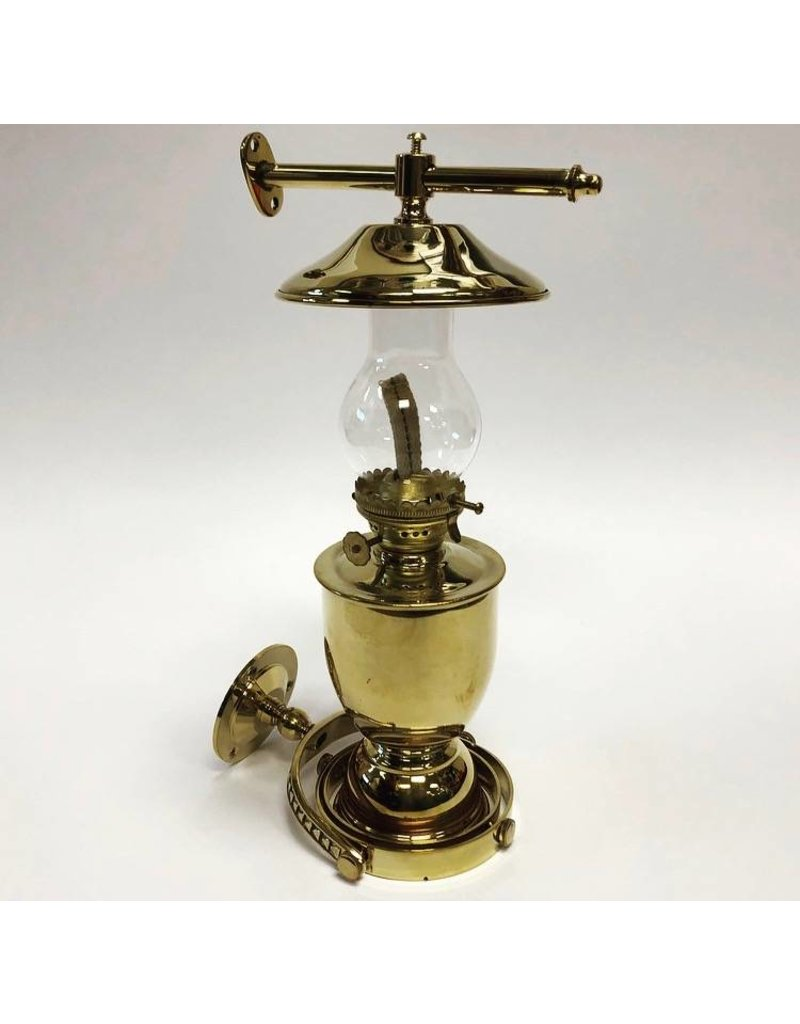 "AAA BRASS LAMP GIMBALLED WALL MOUNT (12"" HIGH) *CLEARANCE*"