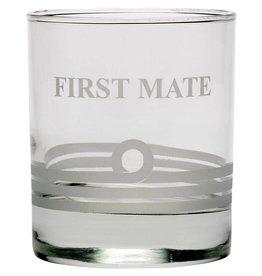 NAUTICALIA WHISKEY TUMBLER GLASS 'FIRST MATE'