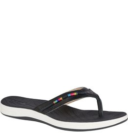 SPERRY SPERRY SEABROOK WAVE BLACK RAINBOW THREAD WRAP THONG FLIP FLOP (WOMEN'S)S *CLEARANCE*