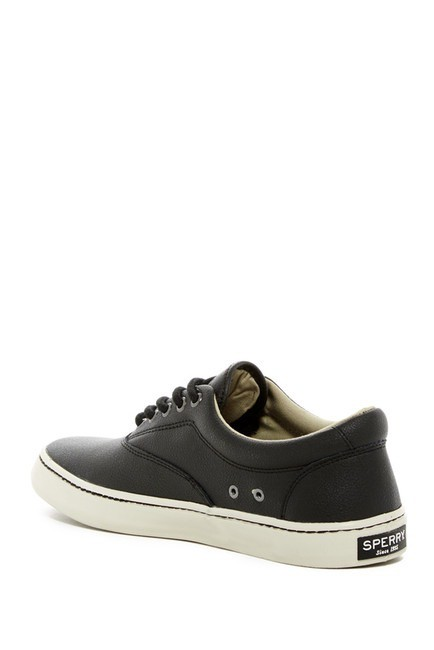 SPERRY SPERRY CUTTER BLACK LEATHER SNEAKER  (MEN'S)