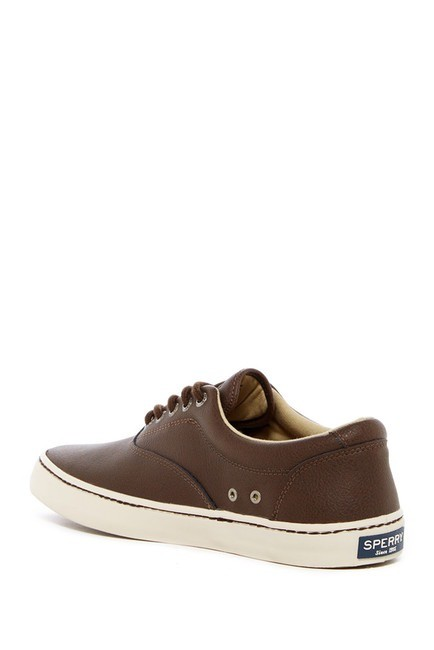 SPERRY SPERRY CUTTER BROWN LEATHER SNEAKER (MEN'S)