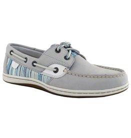 SPERRY SPERRY KOIFISH RAFFIA GREY / BLUE BOAT SHOE (WOMEN'S) *CLEARANCE*