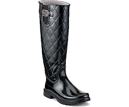 SPERRY SPERRY PELICAN TOO BLACK QUILTED RAIN BOOT (WOMEN'S)