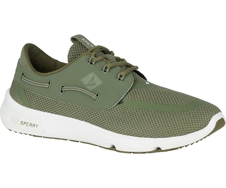 SPERRY SPERRY SEVEN SEAS OLIVE PERFORMANCE SHOE (MEN'S)
