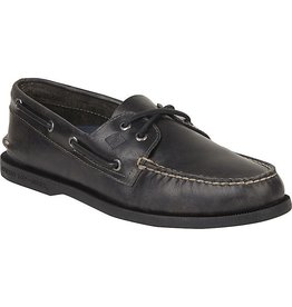 SPERRY SPERRY AUTHENTIC ORIGINAL 2 EYE BLACK ORLEANS BOAT SHOE (MEN'S) *CLEARANCE*