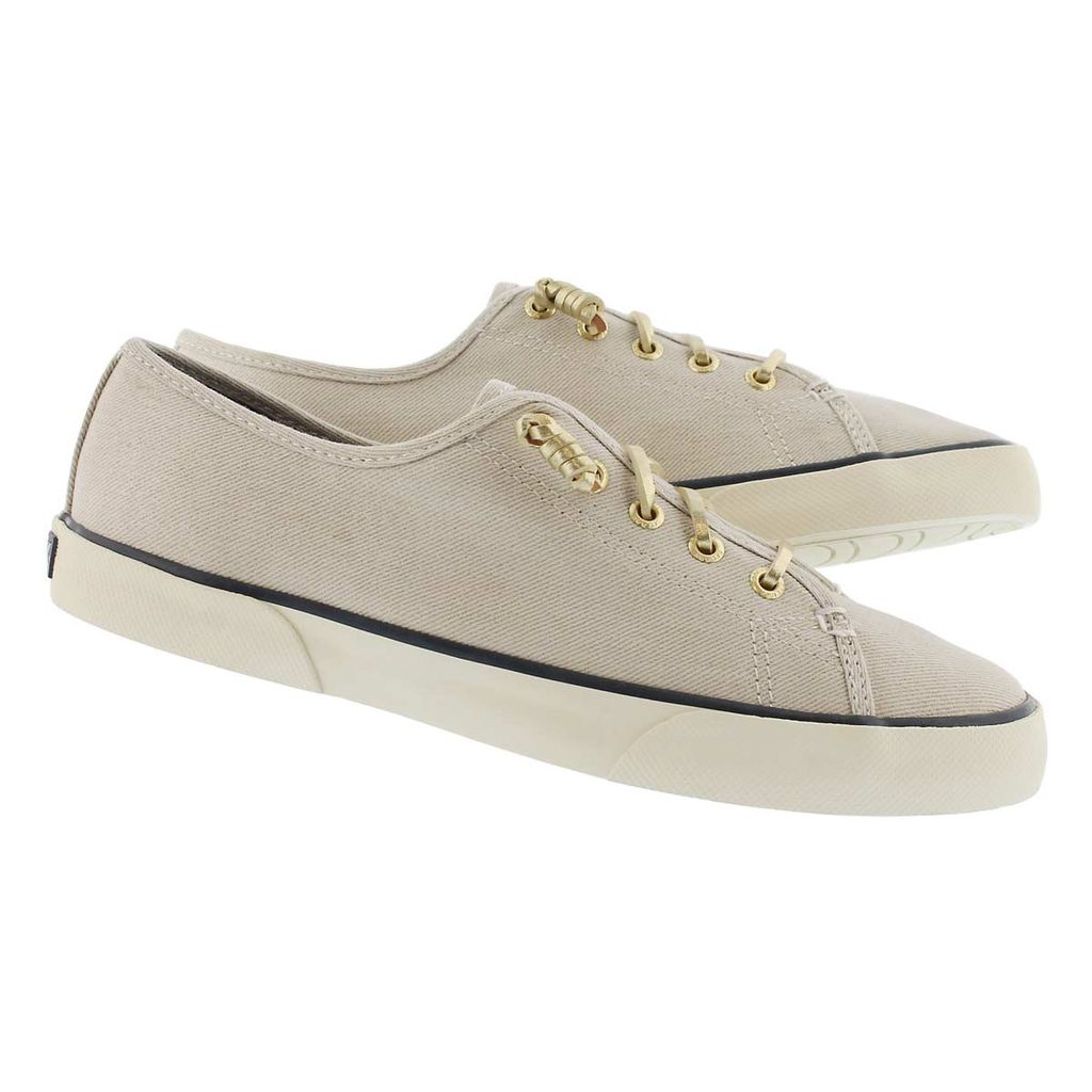 SPERRY SPERRY PIER VIEW WHITE & GOLD SPARKLE SNEAKER (WOMEN'S) *CLEARANCE*