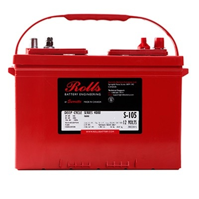SURRETTE / ROLLS SURRETTE ROLLS BATTERY 12V 4000 SERIES 24 S-105 HT85