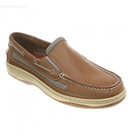 SPERRY SPERRY BILLFISH SLIPON TAN/BEIGE BOAT SHOE (MEN'S) *CLEARANCE*