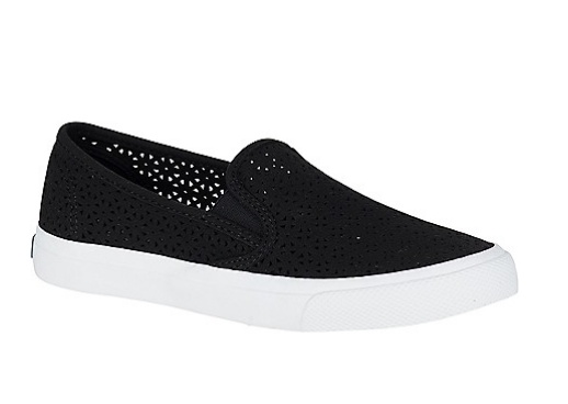 SPERRY SPERRY SEASIDE NAUT PERFORATED BLACK SNEAKER(WOMEN'S)