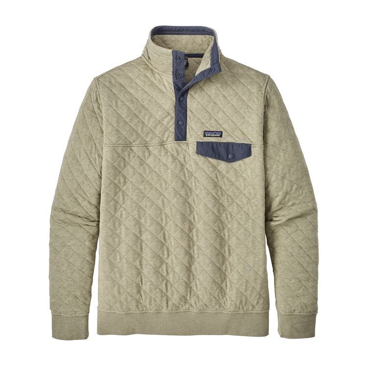 Men's Organic Cotton Quilt Snap-T Pullover