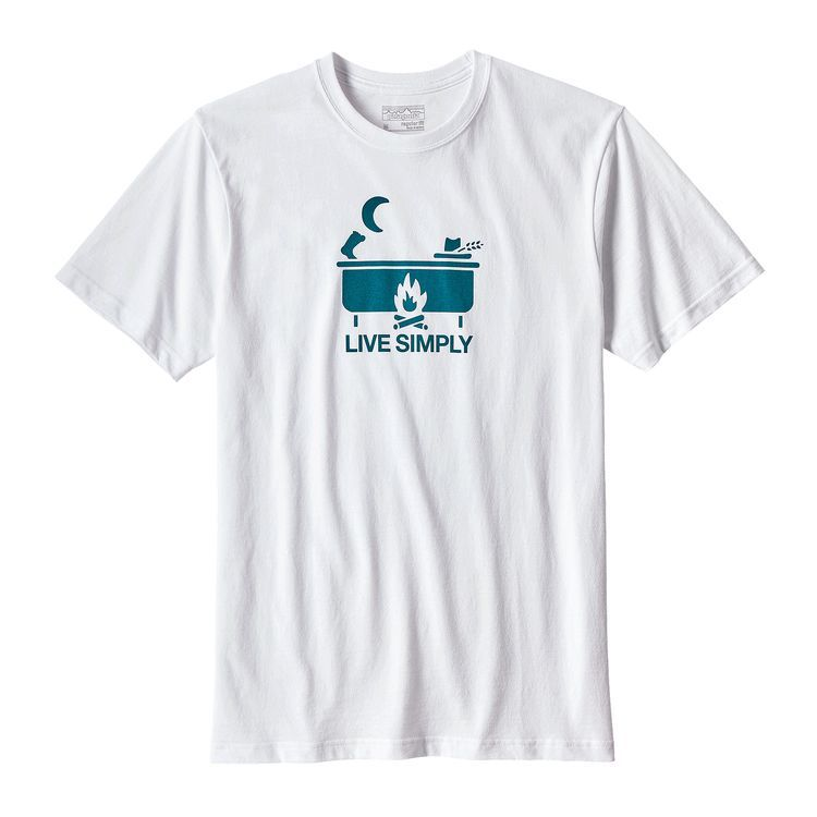 Men's Live Simply Hot Tub Cotton/Poly Responsibili-Tee
