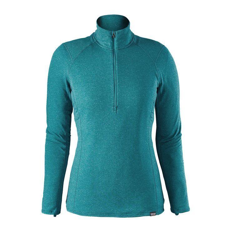 Women's Cap Thermal Weight Zip Neck
