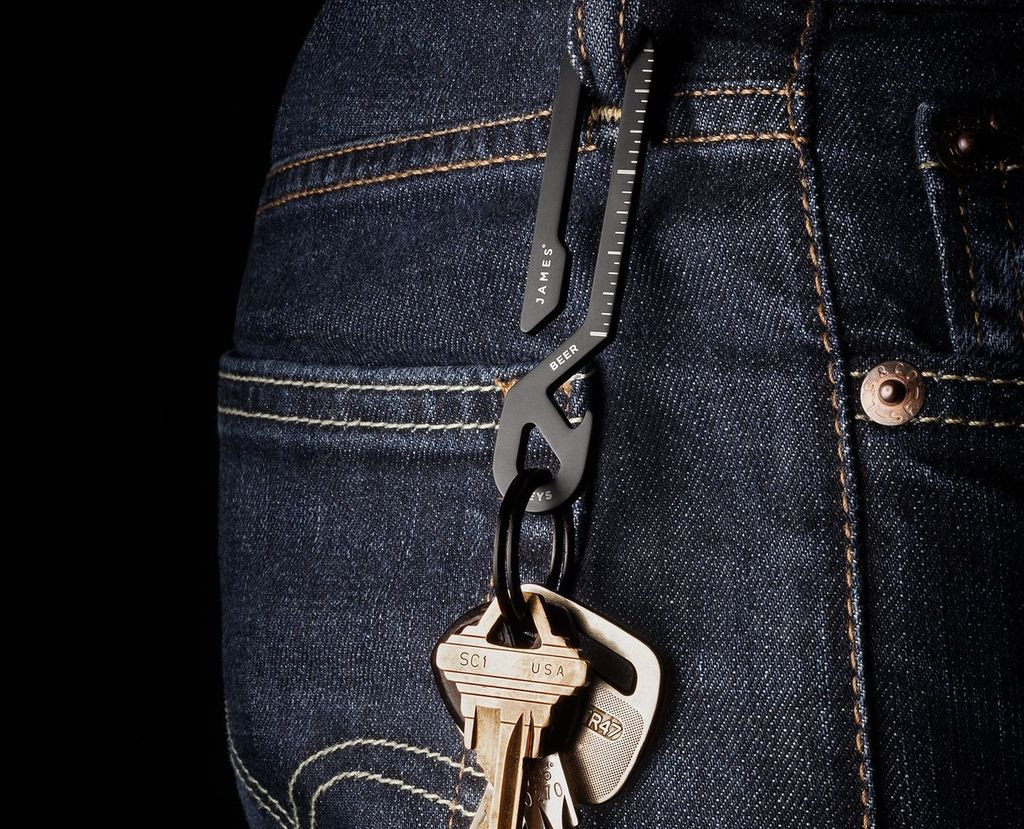 James: The Keyhook: Black / Stainless