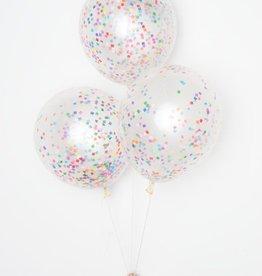 knot & bow diy confetti balloons: tiny rainbow