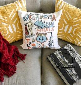 LivyLu explore oklahoma pillow