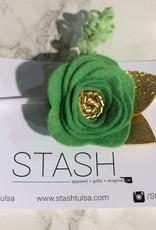irish dreams felt flower headband