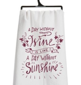 Primitives by Kathy day without wine tea towel