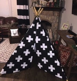 little brave hearts large black swiss cross teepee