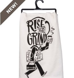 primitives by kathy dish towel - rise & grind