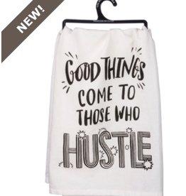 Primitives by Kathy dish towel - hustle