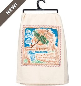 Primitives by Kathy embroidered towel - OK