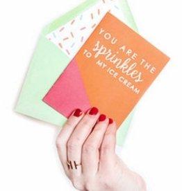 freckles creative studio sprinkles on my ice cream card