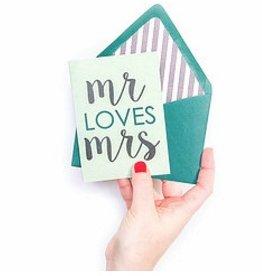 freckles creative studio mr loves mrs card