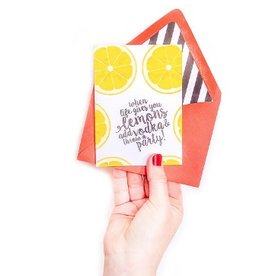 freckles creative studio when life gives you lemons card