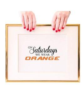 freckles creative studio orange on saturday print