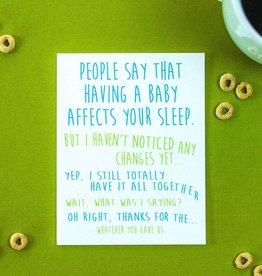 loops & belles baby affects sleep