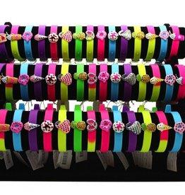 yummy gummy bracelets with jewel