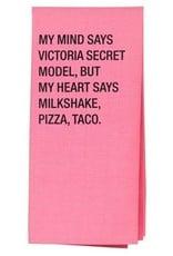 milkshake, pizza and taco tea towel