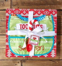 two's company FINAL SALE holiday spoon and bib set in gift box