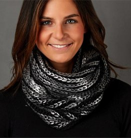 two's company metallic knit infinity scarf FINAL SALE