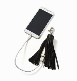 two's company leather tassel powerbank