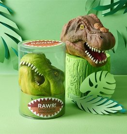 two's company t-rex hand puppet in gift pack