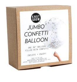 knot & bow metallic jumbo confetti balloon