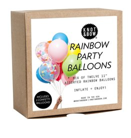 knot & bow rainbow party balloons