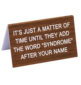 """add """"syndrome"""" after name sign"""